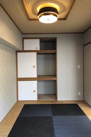 和室(アフター)和洋折衷、琉球畳調に変更